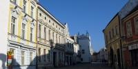 Slavonice pošta a ulice k Hornímu náměstí
